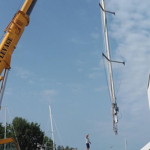 démâtage - ship's mast
